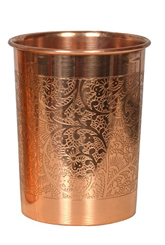 Pure Copper Embossed Glass 200ml